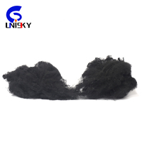 black recycled polyester staple fiber from used pet bottle recycling plant polyester staple fiber