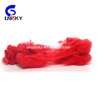 recycled dope dyed polyester staple fiber