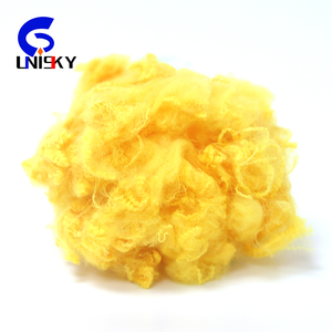 8mm Eco-friendly Fire dope dyed polyester Chemical Fiber for martor 20micron pet fiber for asphalt