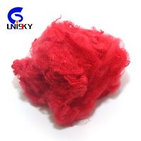 dope dyed colored recycled polyester staple fiber / polyester fibre