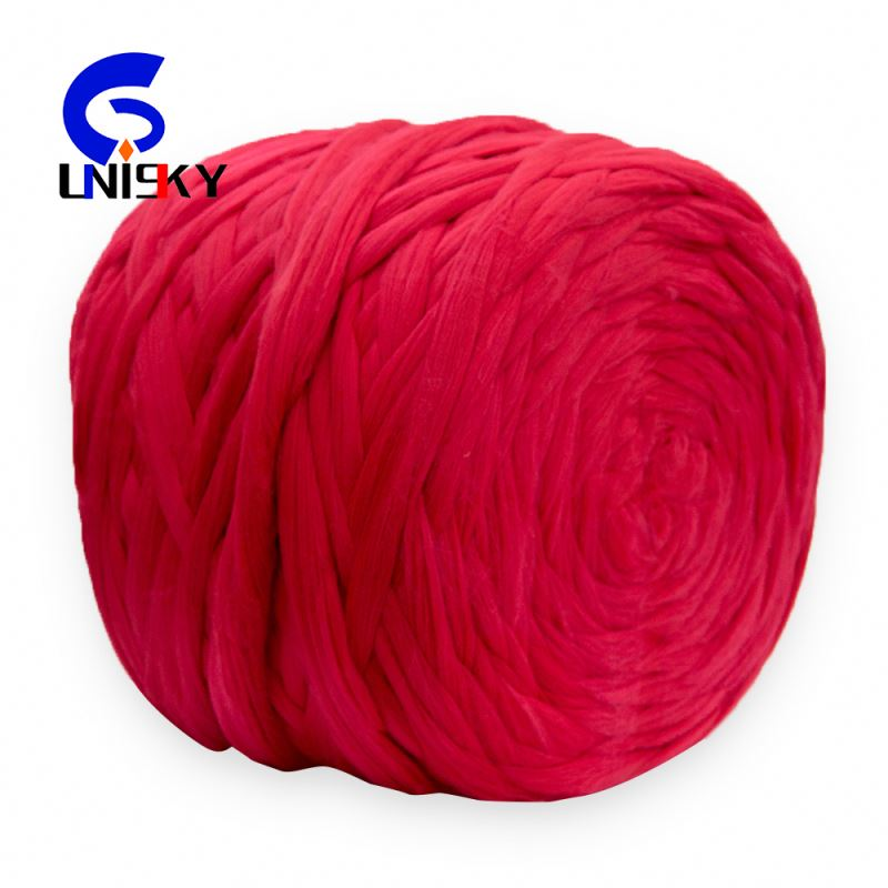 dope dyed recycled red Polyester Tops for spinning