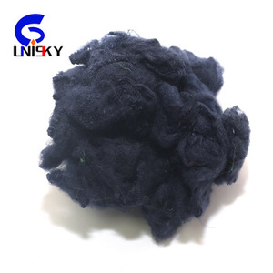 11D*65Mm Black Recycle Polyester Staple Fiber For Bed Sheet