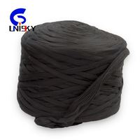 100% black colored recycled Polyester Tops