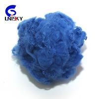 dope dyed recycled polyester staple fiber 1.4D*45mm raw material for textiles