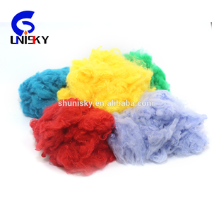 1.5-15d Recycled dope dyed Polyester Staple Fiber color psf